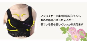 ふんわりルームブラ・着用時のバストの丸みを表した写真