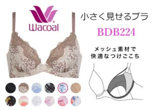 ワコール・小さく見せるブラ・フルカップ(BDB224)商品画像