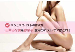 田中みな実&紗栄子さん愛用のバストケア・イメージ画像