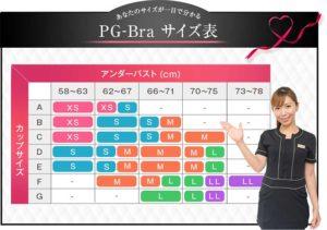 PGブラ・サイズ表